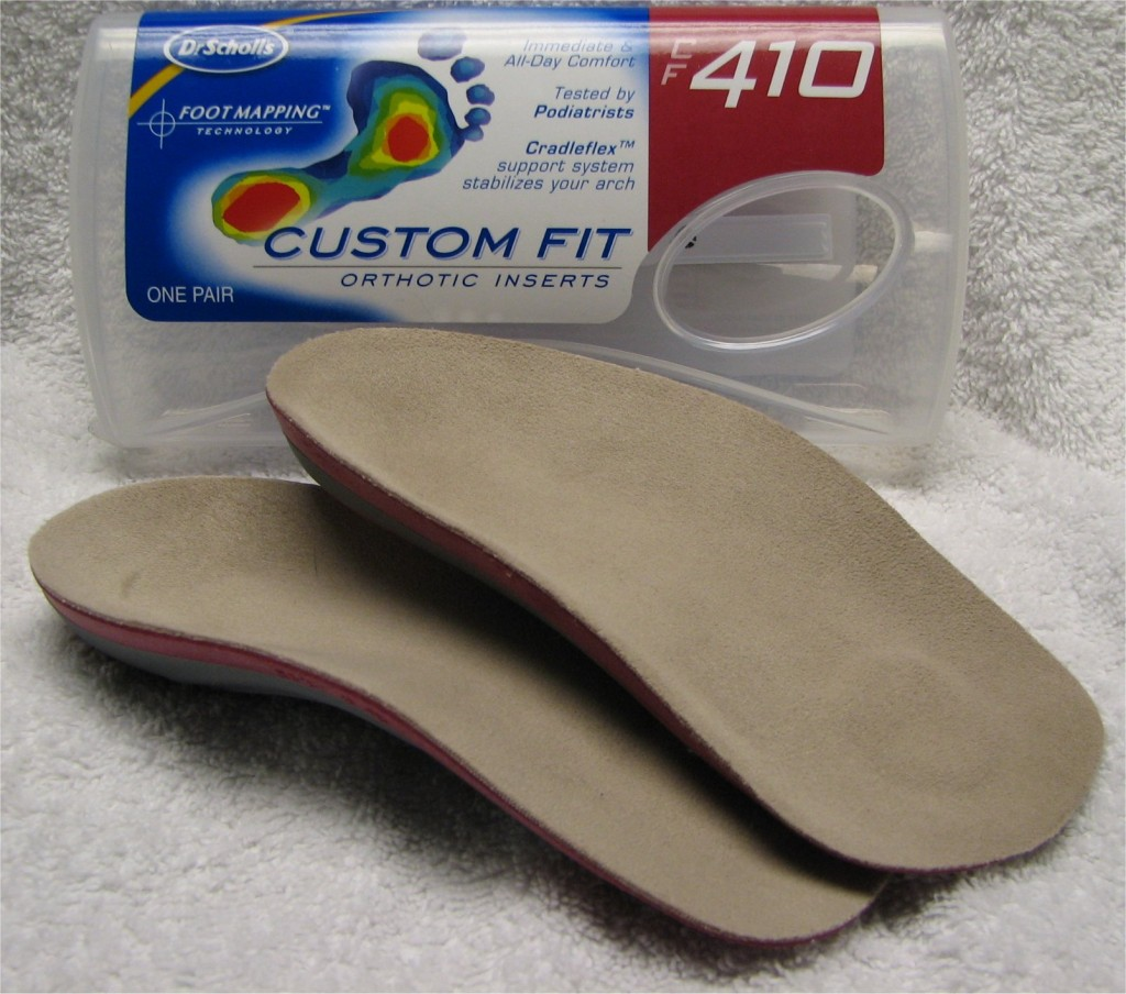 Dr. Scholls Custom Fit Orthotics are not hard like other 3/4 orthotics that I have seen. They have a padding on them for your feet's comfort