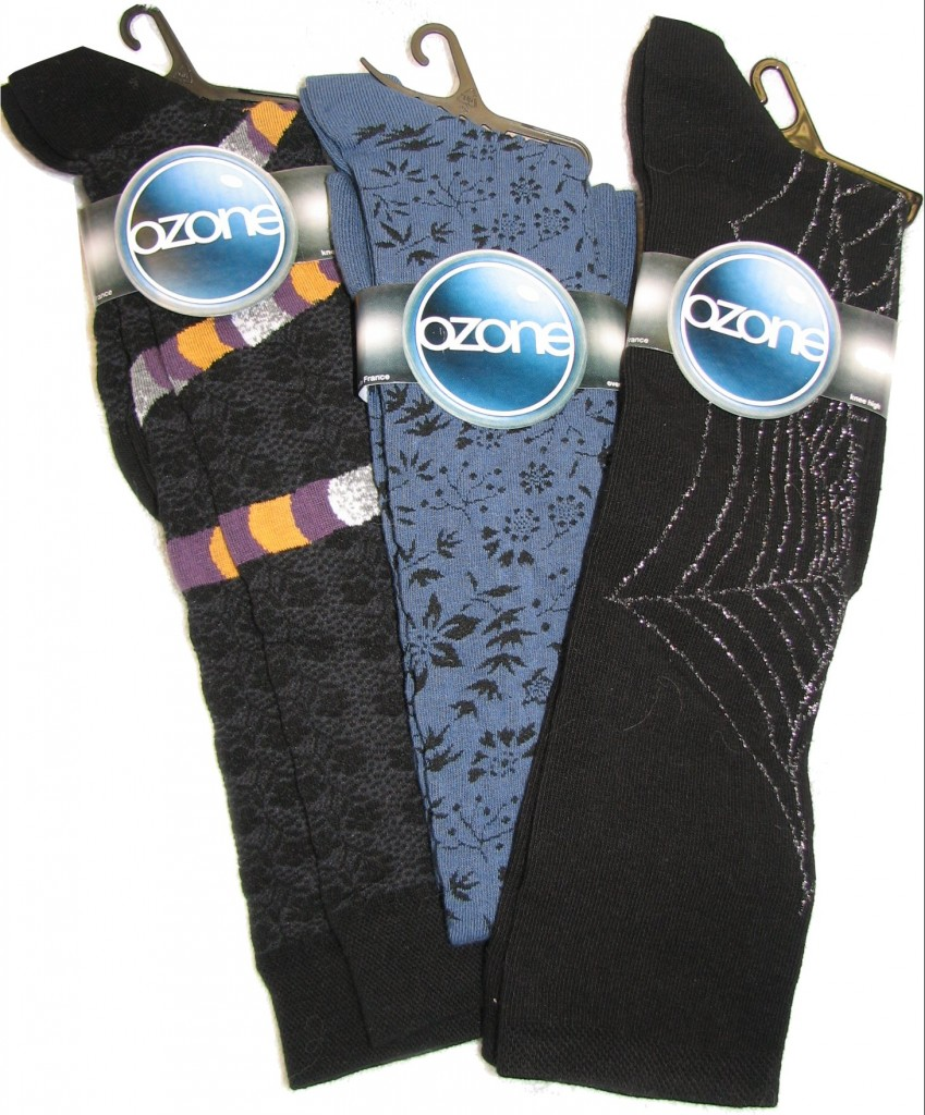 Ozone Socks are devoted entirely to putting fashion and fun into socks and tights. Not only are they stylish, but they stay in place while you wear them.
