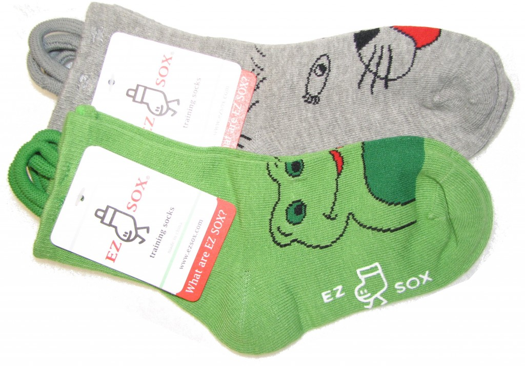 I will say I have never seen my child more excited to wear socks then he was to wear EZ Sox! He just loved the fact that they were Animals... And that they were so easy for him to put on by himself. He gets mad when they are in the wash - because he cant choose them for the socks of the day. One thing that i have noticed is since he has received the EZ sox, he has more confidence when it comes to putting his own socks on.