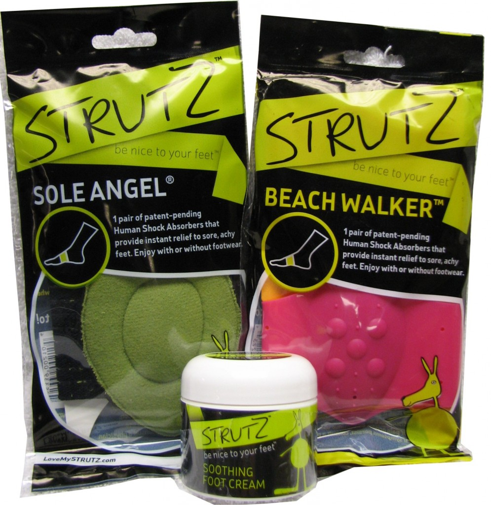 If you're wearing Strutz Sole Angels you'll notice reduced heel, arch and ball of foot pain caused by flat feet. Something Many of us suffer from.