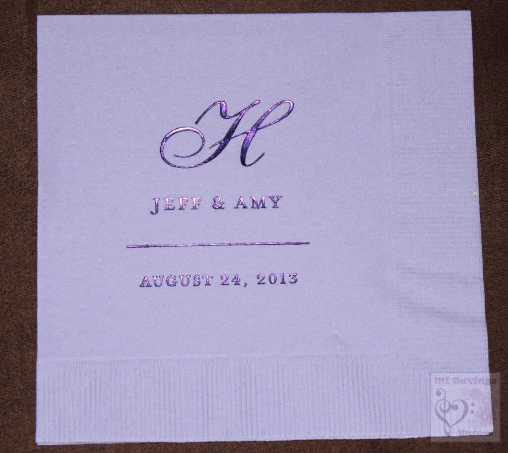 Wedding Paper Diva Napkin