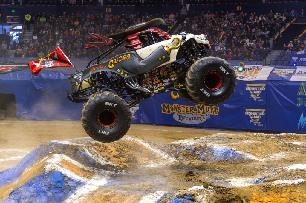 Pirates Curse Monster Jam Truck in Air