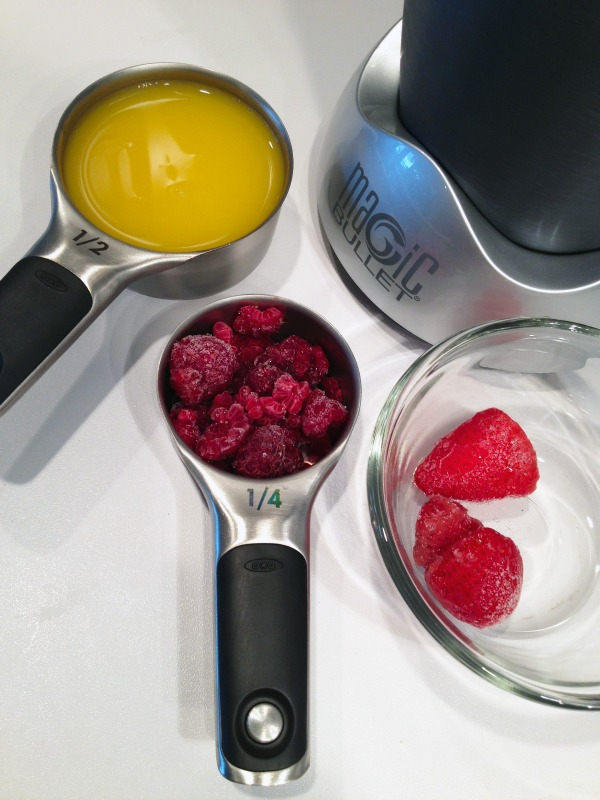 Raspberry Strawberry Blended Mimosa In-Process #1