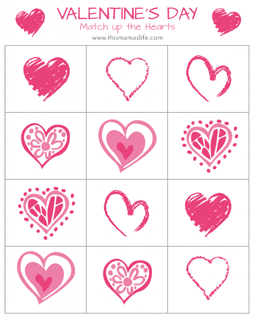 Vday-Printable Package-5-matching