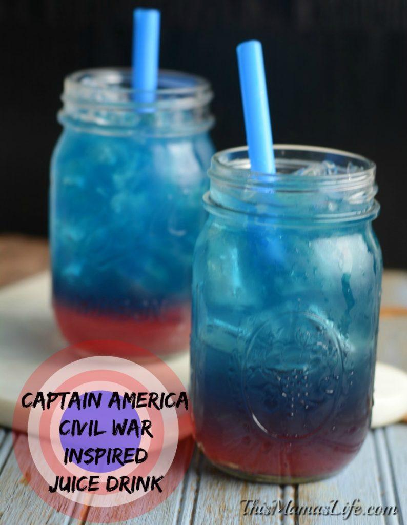 Captain America Inspired Drink 1