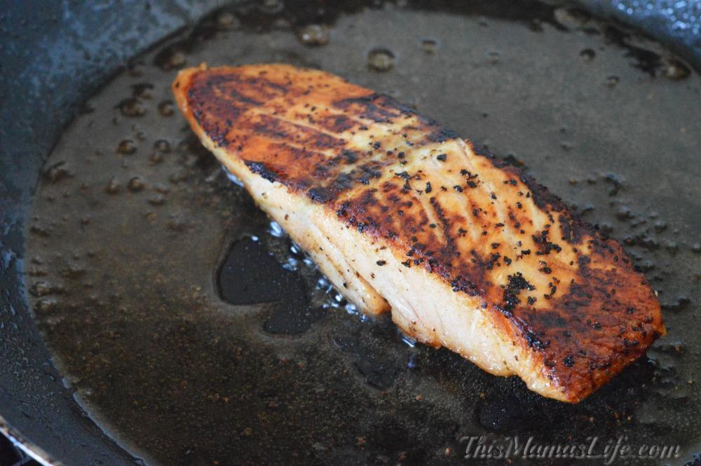Simple way to make Blackened Lemon Pepper Salmon in a Pan
