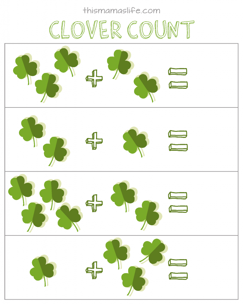 St Patricks Day-Kids Activity Set-3-counting St. Patrick's Day Counting