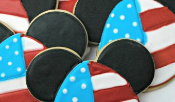 Mickey Mouse Inspired 4th of July Cookie