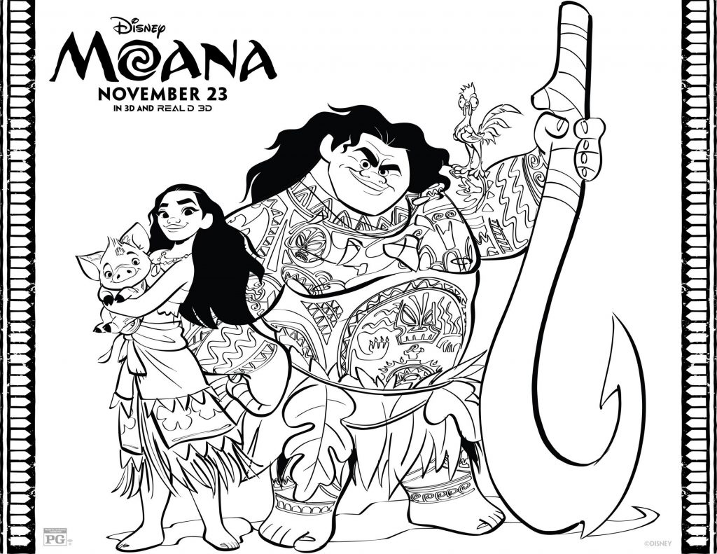 MOANA Coloring Pages 1