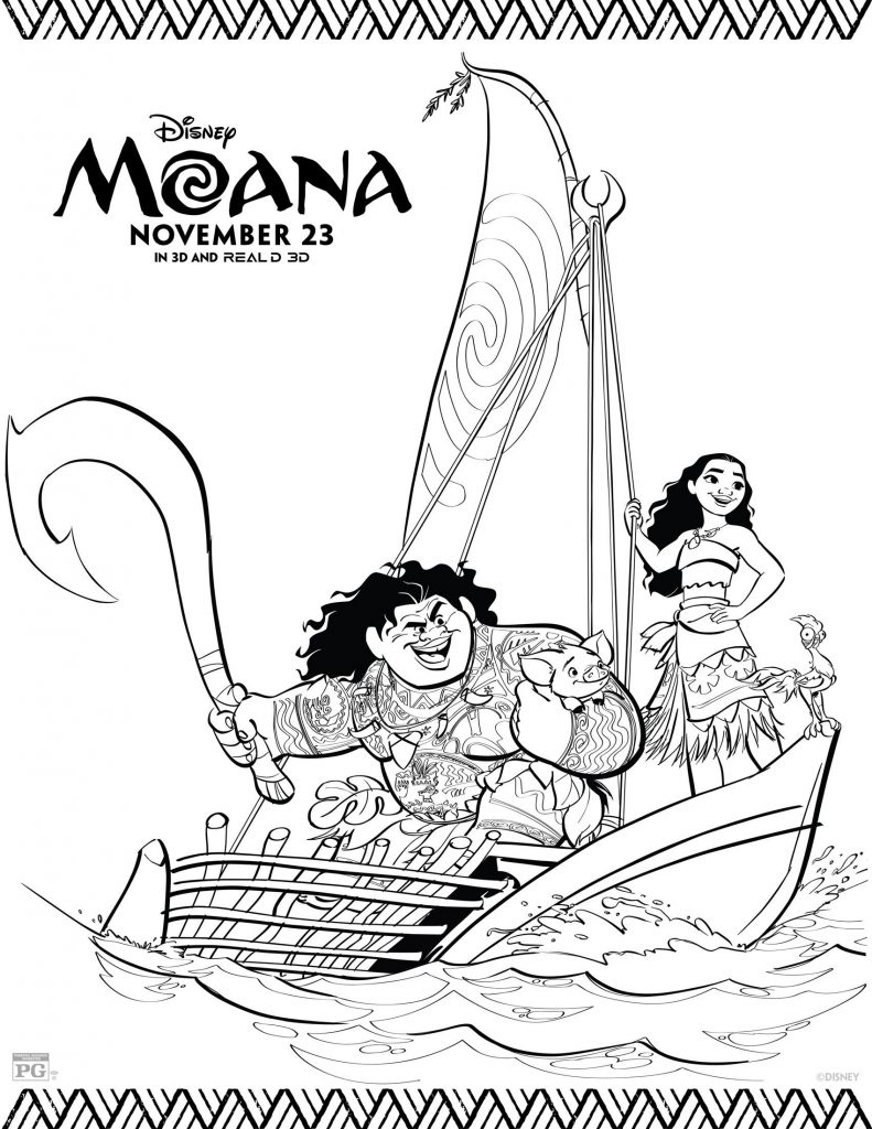 MOANA Coloring Pages 5