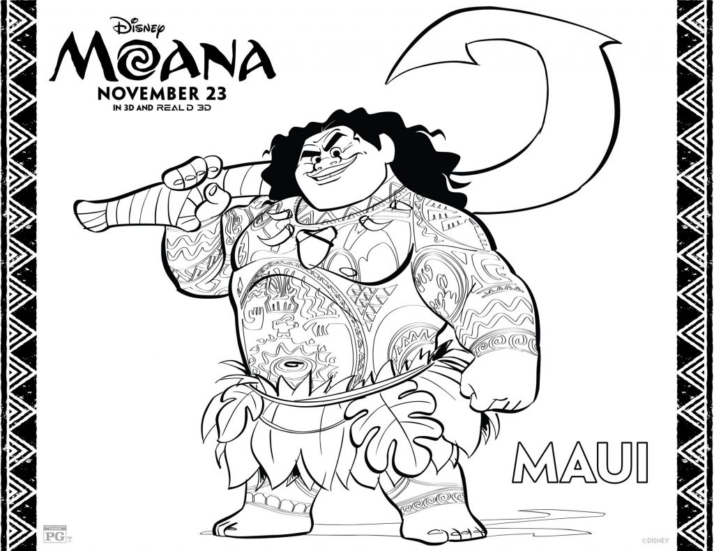 MOANA Coloring Pages 3