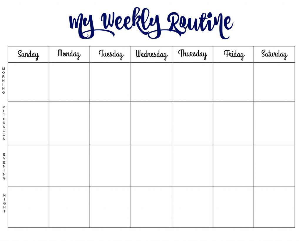 my-weekly-routine