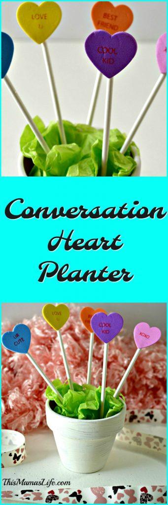 Conversation Heart Planter Pin
