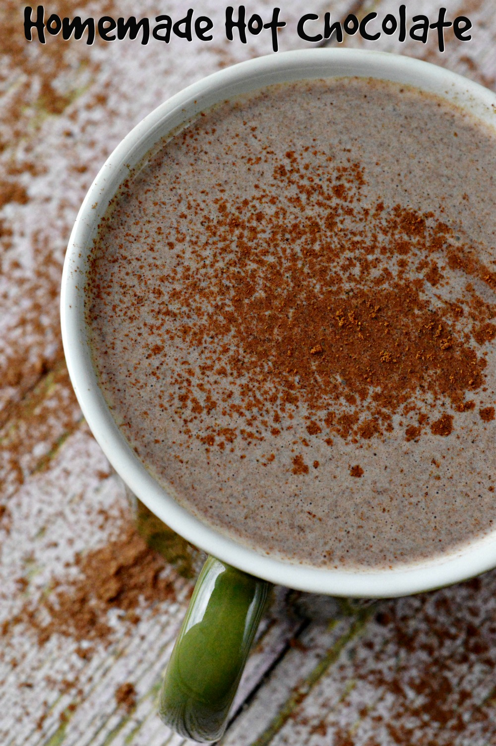 This is best hot chocolate mix topped with a little Cinnamon