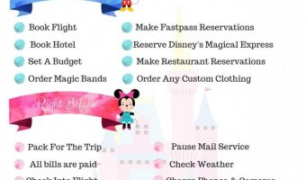 Disney World Planning: Long/Short Term Checklist with Printable