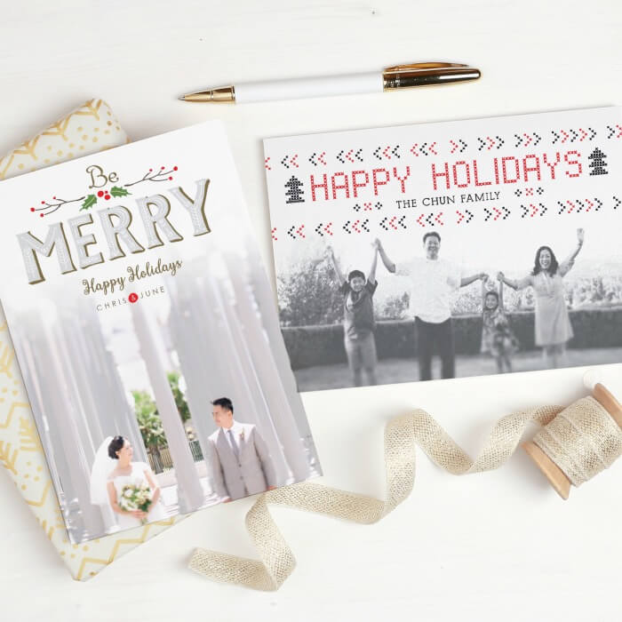 2 Basic Invite Holiday Cards